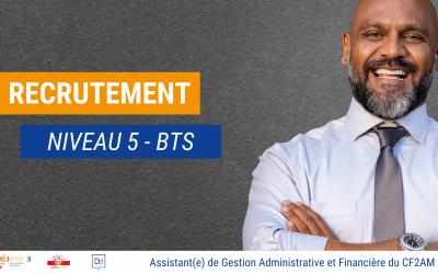 Recrutement – Assistant(e) de Gestion Administrative et Financière du CF2AM